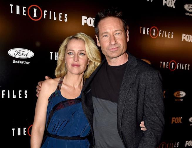 David Duchovny e Gillian Anderson alla presentazione di X-Files