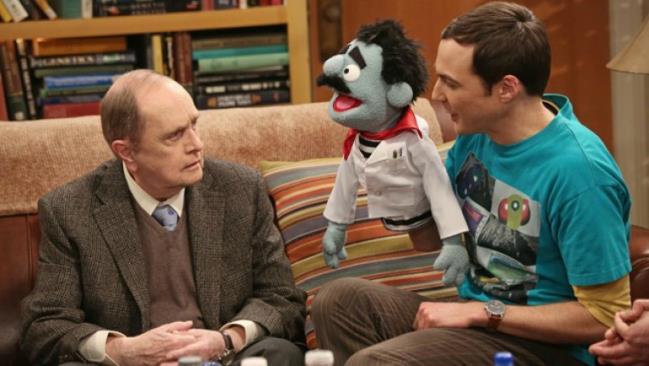 Bob Newhart nella sua prima apparizione in The Big Bang Theory