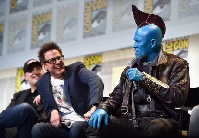 James Gunn e Michael Rooker (Yondu) durante il San Diego Comic-Con