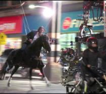 Keanu Reeves sul set del film John Wick 3