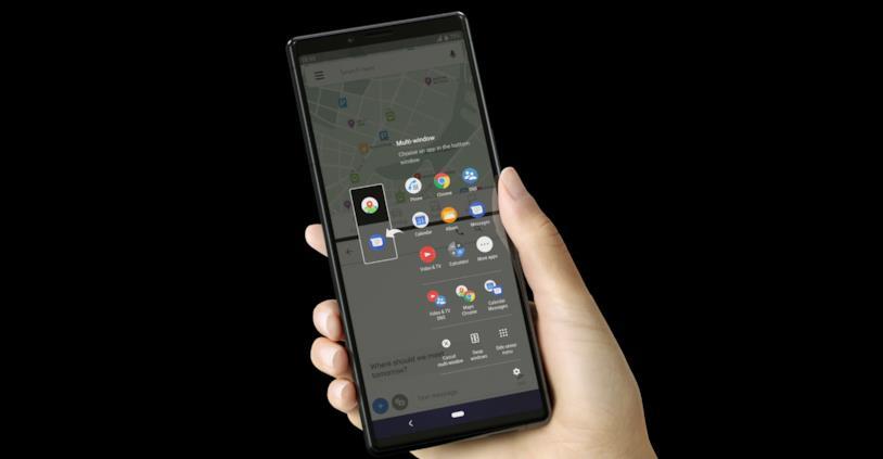 Immagine stampa di Sony Xperia 1: esempio multitasking