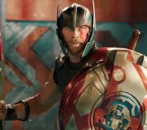 Chris Hemsworth nei panni di Thor in Thor: Ragnarok