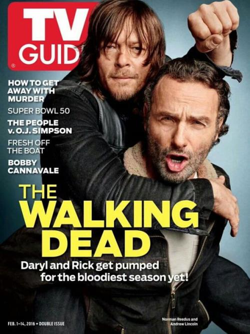 Norman Reedus e Andrew Lincoln sulla copertina di TV Guide