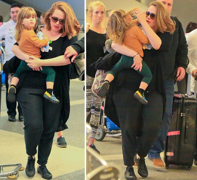 Adele con il figlio Angelo