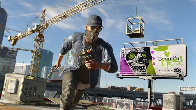 Marcus Holloway in azione in Watch Dogs 2