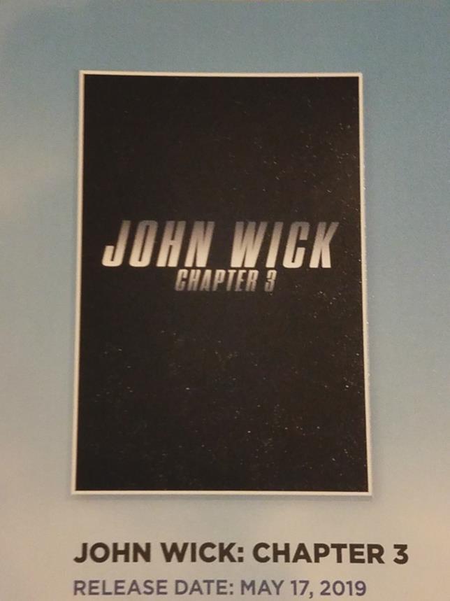 Il primo poster di John Wick 3