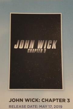 Primissimo poster col solo il logo di John Wick 3