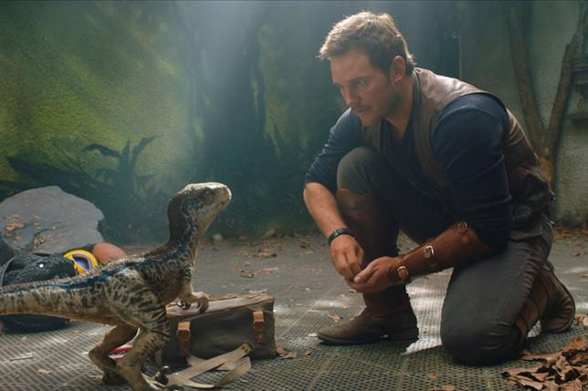 Chris Pratt alle prese col piccolo Blue