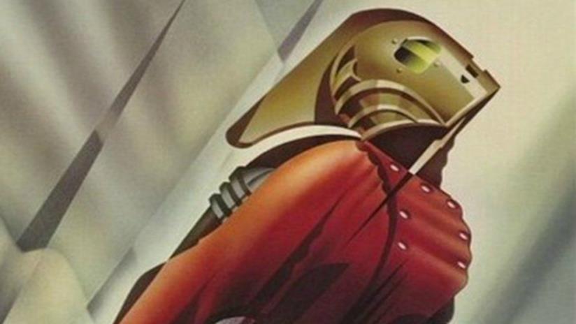 L'immagine di Rocketeer nel poster del 1991