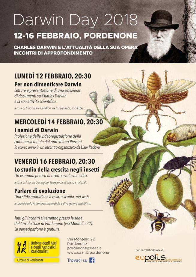 Gli eventi del Darwin Day nella città di Pordenone