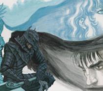 Gatsu, il protagonista del manga Berserk, e Grifis, amico-nemico