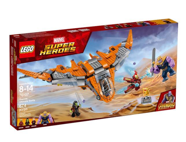 Dettagli del set Thanos: la battaglia finale di LEGO
