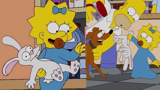 Scene dal cartone animato I Simpson