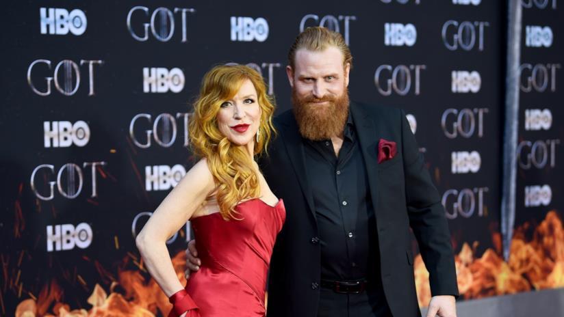 Kristofer Hivju e sua moglie