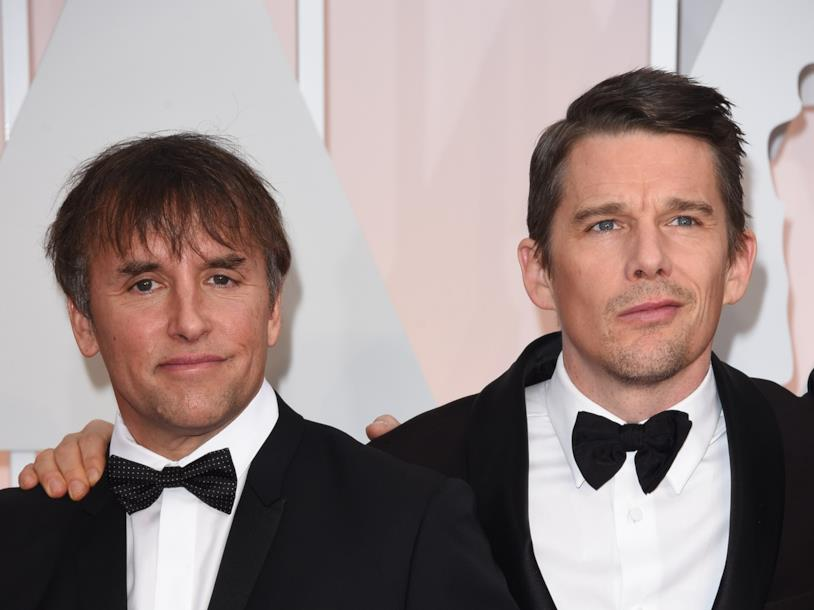 Ethan Hawke e Richard Linklater in primo piano