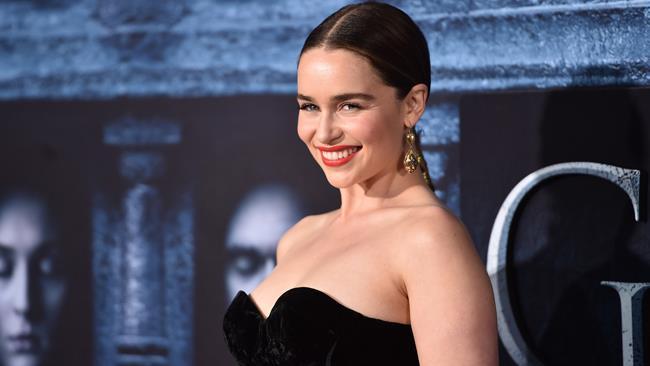 Emilia Clarke alla première di Game of Thrones