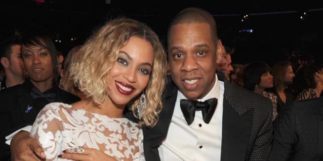 Primo piano di Beyoncé e Jay Z