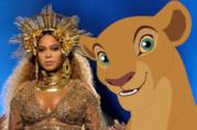 Beyoncé in un fotomontaggio con Nala