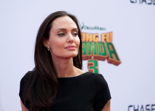 Primo piano di Angelina Jolie
