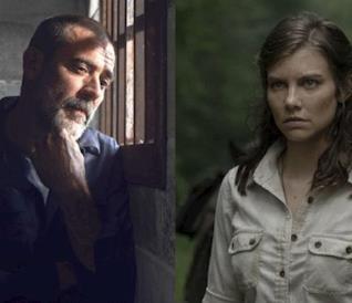 Negan e Maggie in The Walking Dead