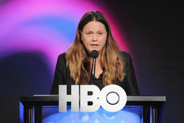 Francesca Orsi di HBO durante una conferenza stampa