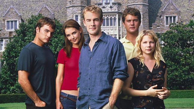 Dawson's Creek: Kerr Smith, Katie Holmes, James Van Der Beek, Joshua Jackson e Michelle Willaims