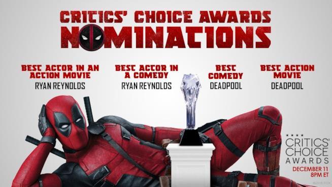 Deadpool e le sue nomination ai Critics' Choice Awards