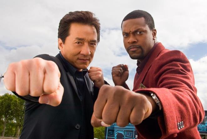 Chris Tucker e Jackie Chan in Rush Hour
