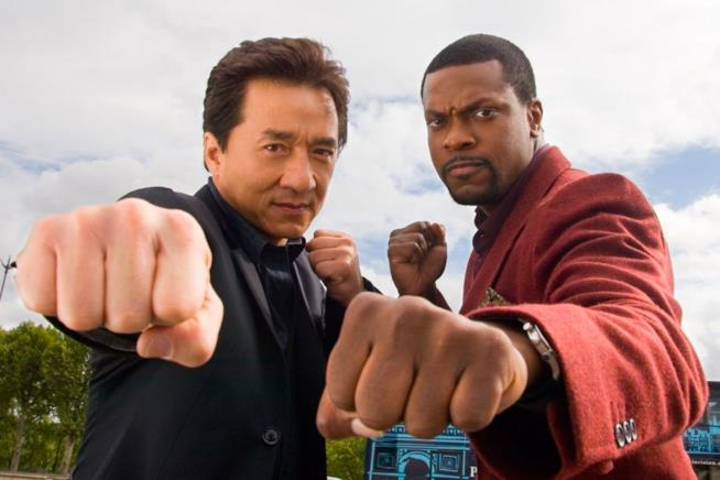 Chris Tucker e Jackie Chan in Rush Hour