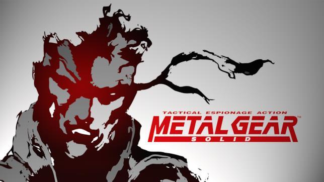 La copertina del 1998 di Metal Gear Solid