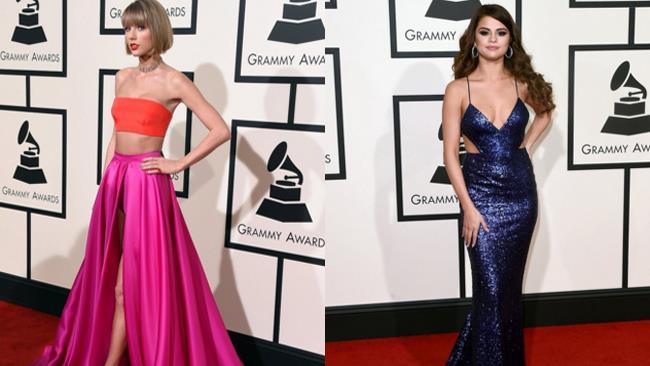 Taylor Swift e Selena Gomez ai Grammy Awards 2016 a Los Angeles