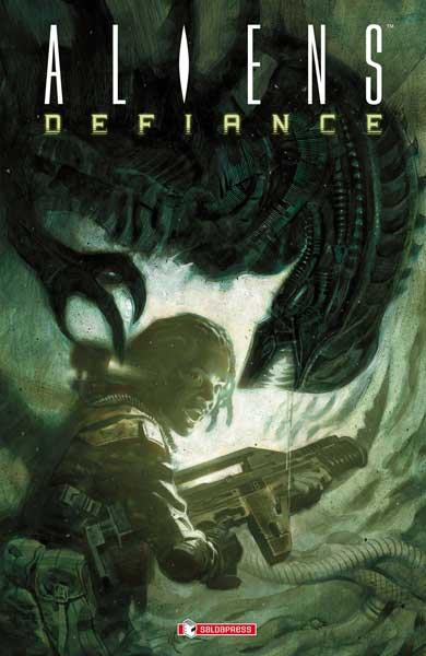 Xenomorfi sulla cover di Aliens - Defiance
