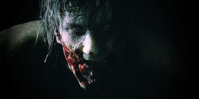 Primo piano per uno zombie di Resident Evil 2 Remake