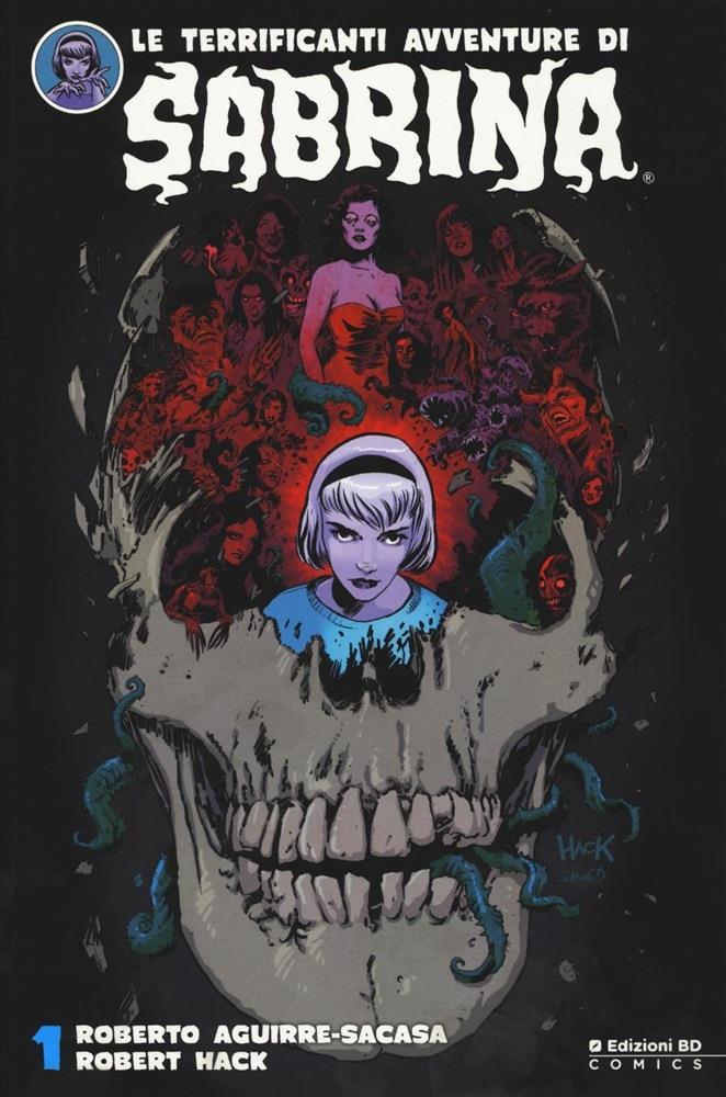 Copertina del primo volume di Sabrina con la protagonista su sfondo nero