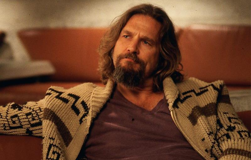 Jeff Bridges nel ruolo del protagonista de Il grande Lebowski