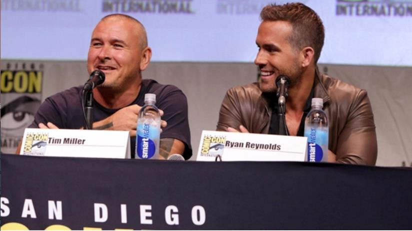 In foto il regista Tim Miller e l'attore Ryan Reynolds