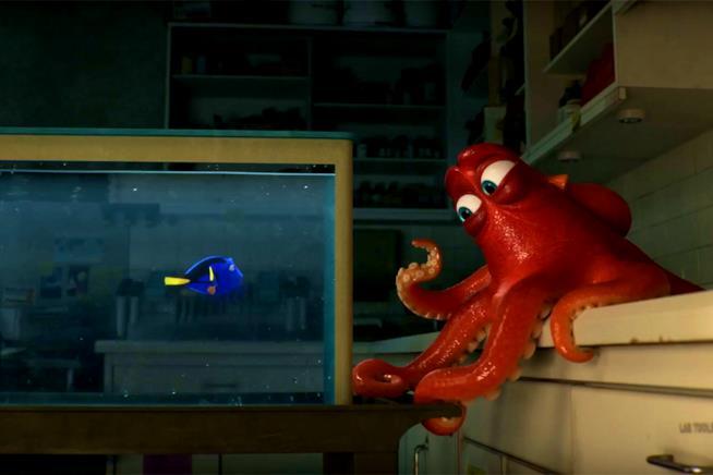 Dory e Hank in una scena di Alla Ricerca di Dory