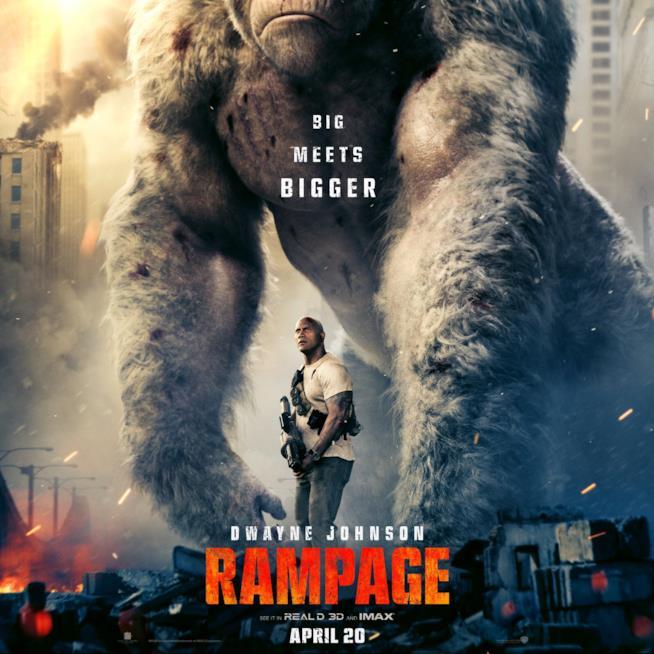 Dwayne Johnson nel poster ufficiale di Rampage