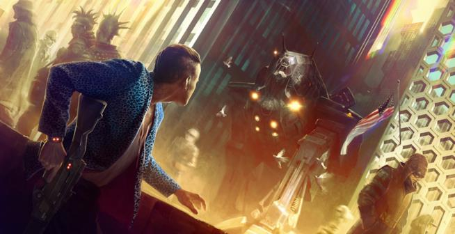Un artwork ufficiale di Cyberpunk 2077