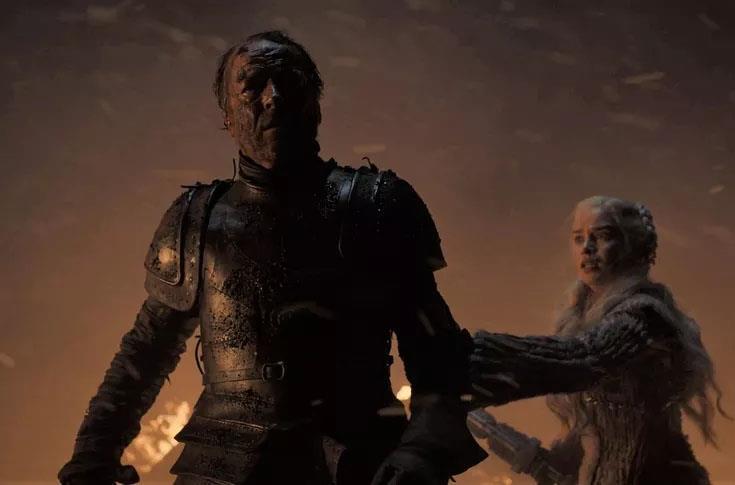 Iain Glen nella scena di morte di Ser Jorah Mormont