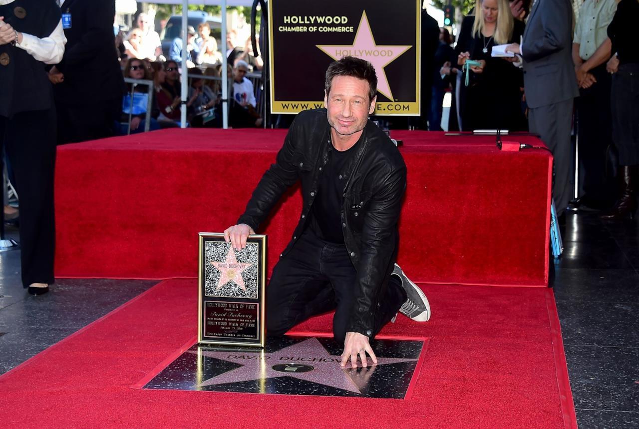David Duchovny alla cerimonia per la sua stella sulla Walk of Fame
