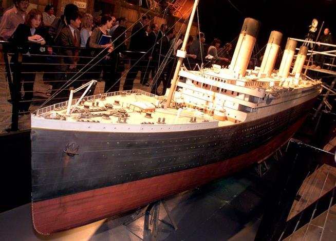 Una riproduzione del Titanic