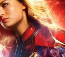 Brie Larson è Captain Marvel in un'immagine promozionale del film