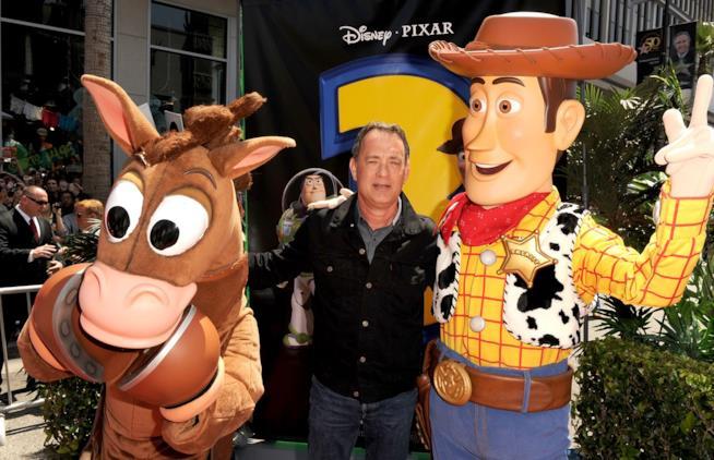 Tom Hanks a un evento promozionale per Toy Story