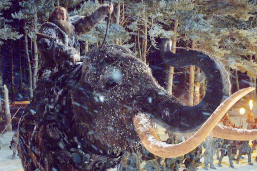 Un mammut visto in Game of Thrones