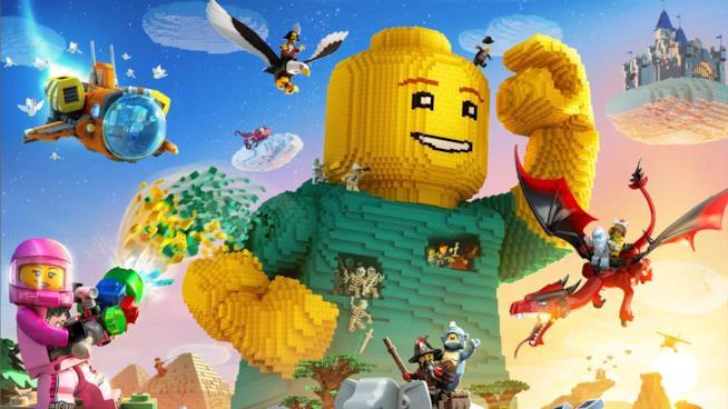 La cover ufficiale di LEGO Worlds