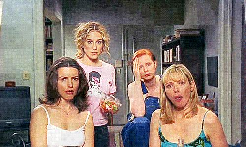 Un'immagine dalla prima stagione di Sex and The City