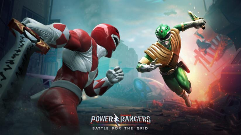 Red e Green Ranger combattono in Power Rangers: Battle for the Grid