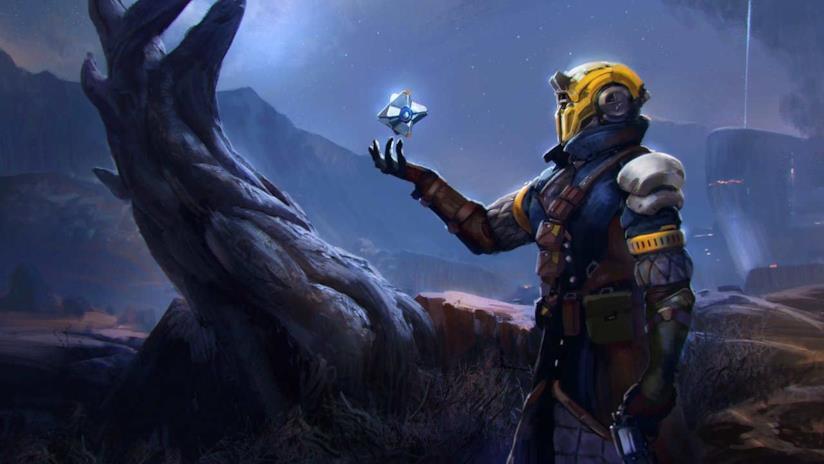 Un Guardiano il suo Spettro in un artwork di Destiny