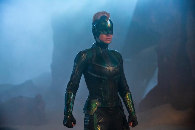 Brie Larson nei panni di Captain Marvel nell'omonimo film